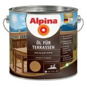 ALPINA OL FUR TERRASEN масло для террас, прозрачный, колеруемое (0,75л)