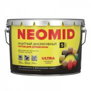 Защитный декоративный состав для древесины NEOMID BIO COLOR ULTRA (9 л)