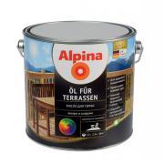Лессирующий состав Alpina Oel fuer Terrassen Масло для террас Transp, прозрачное колеруемое, 2,5 л