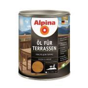 Лессирующий состав Alpina Oel fuer Terrassen Mittel, Масло для террас и садовой мебели, средний тон, 0,75 л