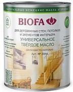 2044 Универсальное твердое масло BIOFA (Биофа) - 2012 Медовый, 10 л, Производитель: Biofa