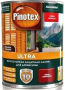 Пропитка влагостойкая лазурь Pinotex Ultra декоративно-защитная для древесины с добавлением воска Рябина (1л)