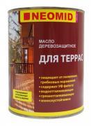 Масло деревозащитное для террас Neomid / Неомид (2 л)
