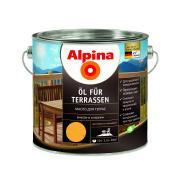 Лессирующий состав Alpina Oel fuer Terrassen Hell, Масло для террас и садовой мебели, светлый тон, 2,5 л