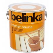 Лазурное покрытие для защиты древесины в саунах belinka interier sauna 2,5л 52257