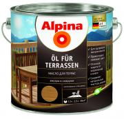 ALPINA OL FUR TERRASEN масло для террас, средний (0,75л)