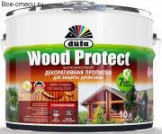 Dufa Wood Protect пропитка для защиты древесины белая (10л)