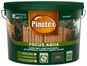 PINOTEX FOCUS AQUA пропитка для защиты деревянных заборов и садовых строений, зеленый лес (9л)