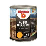 Лессирующий состав Alpina Oel fuer Terrassen Hell, Масло для террас и садовой мебели, светлый тон, 0,75 л