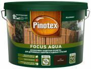 PINOTEX FOCUS AQUA пропитка для защиты деревянных заборов и садовых строений, орех (9л)