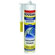 Герметик Soudal 105897 силиконовый санитарный бесцветный 300мл