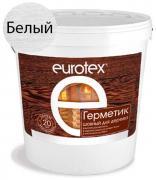 Герметик Евротекс для дерева теплый шов белый 25 кг