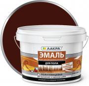 """Эмаль """"Лакра"""", 4603292013961, акриловая, для пола, красно-коричневый, 2.4 кг"""