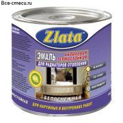 Эмаль акриловая термостойкая Zlata для радиаторов отопления (1.8 кг)