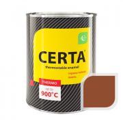 Эмаль термостойкая CERTA до 500С 0,8кг Терракот