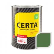 Эмаль термостойкая CERTA до 500С 0,8кг Зеленая