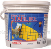 Litokol Смесь на эпоксидной основе (2-х компонентная) Litochrom Starlike C.260 (Синий), ведро 2,5 кг
