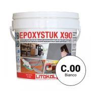 Затирка эпоксидная 2-компонентная кислотостойкая Litokol Epoxystuk X90, цвет С.00 Bianco (Белый), 5 кг