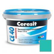 Затирка цементная Ceresit CE 40 Aquastatic бирюза №77 2 кг