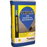 Самовыравнивающийся наливной пол Weber-Vetonit 4100 20 кг