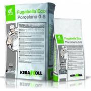 Затирка минеральная Kerakoll Fugabella Eco Porcelana 0-8 для камня и керамики, антибактериальная, цвет Белый-01, 25 кг