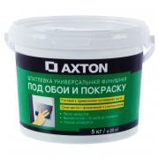 Шпаклёвка универсальная финишная Axton, 5 кг (готовая)