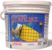 Litokol Смесь на эпоксидной основе (2-х компонентная) Litochrom Starlike C.560 (Серый цемент) ведро 5 кг