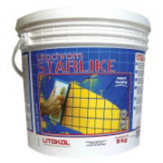 Litokol Смесь на эпоксидной основе (2-х компонентная) Litochrom Starlike C.320 (Серый шёлк), ведро 2,5 кг