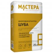 Декоративная штукатурка МАСТЕРА «Шуба» фр. 1 мм белая ф.25 кг