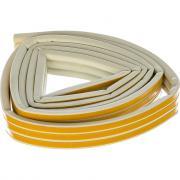 Резиновый уплотнитель tesa премиум d-профиль белый 05393-00102-00