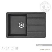 Кухонная мойка Акватон Аманда Графит 1A712832AD210 (780х510 мм)