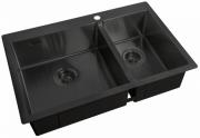 Кухонная мойка ZorG ZL R 780-2-510-L GRAFIT