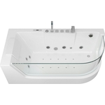 Акриловая ванна Grossman 170x80 с каркасом, гидромассажная, левая (GR-17000L)