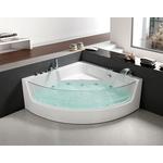 Акриловая ванна Grossman 150x150 с каркасом, гидромассажная (GR-15000)
