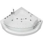 Акриловая ванна Grossman 135x135 с каркасом, гидромассажная (GR-13513)