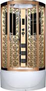 Душевая кабина Niagara Lux NG-7710G 100x100x215, золото с узором