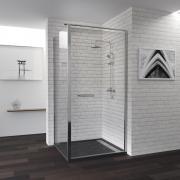 Душевой уголок RGW PA-48 04084889-11 80x90x185 см дверь распашная стекло прозрачное хром