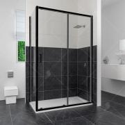 Душевой уголок RGW CL-48 В 32094894-14 140x90 см дверь раздвижная стекло прозрачное черный