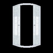 Душевой уголок Triton Стандарт Узоры 90x90 см четверть круга стекло с узором
