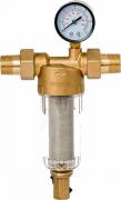 Магистральный фильтр грязевой Гейзер Бастион 112 3/4 манометр, для хол. воды d60