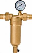 Магистральный фильтр грязевой Гейзер Бастион 122 3/4 манометр, для гор. воды d60