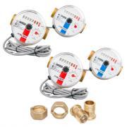 """Комплект счётчиков для горячей и холодной воды Itelma WFK24.D080 и WFW24.D080 с дистанционным считыванием сигнала (Геркон)+КМЧ с обратным клапаном, L-80 Ду-15 1/2"""" - 2 шт."""