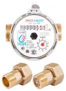 Счетчик воды универсальный ЭКО НОМ-15-80+КМЧ с обратным клапаном