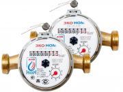 Счетчики воды универсальные ЭКО НОМ-15-110 без комплекта монтажных частей - 2 шт.
