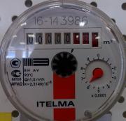 """Счетчик воды (горячей) 1/2"""" Итэлма 80 мм (без гаек) 1729 WFW20.D080"""