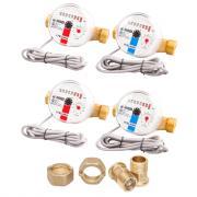 """Комплект счётчиков для горячей и холодной воды Itelma WFK24.D110 и WFW24.D110 с дистанционным считыванием сигнала (Геркон)+КМЧ с обратным клапаном, L-110 Ду-15 1/2"""" - 2 шт."""