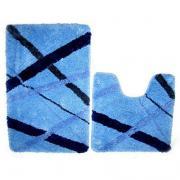 Набор ковриков для ванной комнаты Iddis 50*80+50*50 см blue rain MID160MS