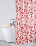 *Штора для ванной комнаты IDDIS 200х200см, полиэстер, Flower Lace, red 411P20RI11