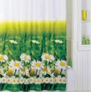 *Штора для ванной комнаты IDDIS 200х200см, полиэстер, Daisy Garden SCID050P