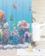 *Штора для ванной комнаты IDDIS 200х180см, полиэстер, Pacific Ocean SCID190P